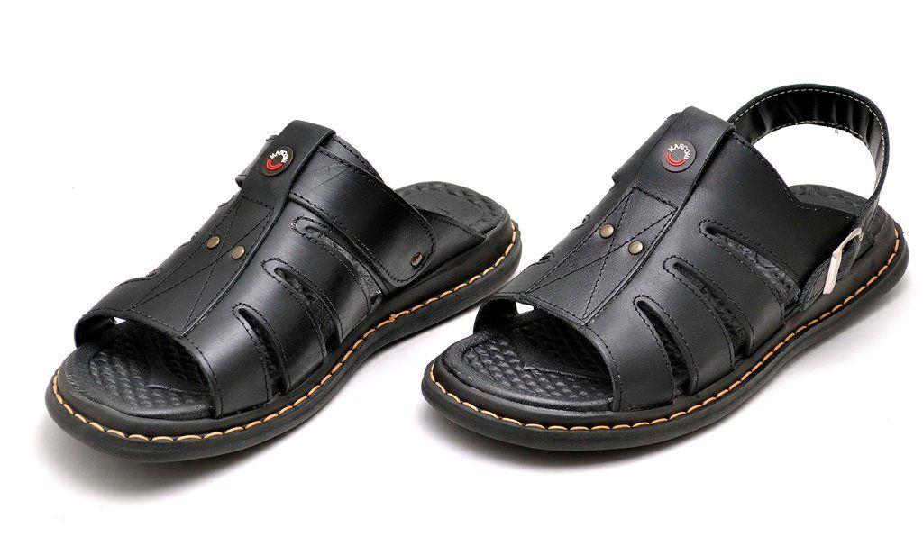 Sandália Chinelo Clube do Sapato de Franca Franciscano Preta
