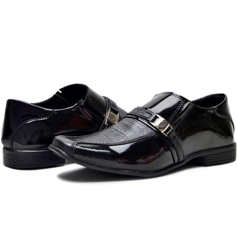 Sapato Social Clube do Sapato de Franca Espoleto Verniz Preto