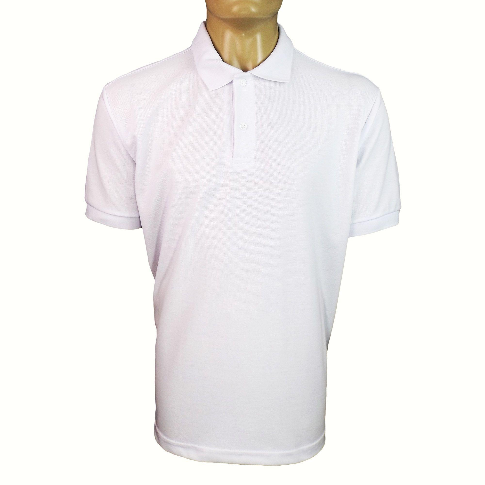 eab5e065c1 Camisa Polo Manga Curta Masculina Branca - Dr EPI - Proteção Individual