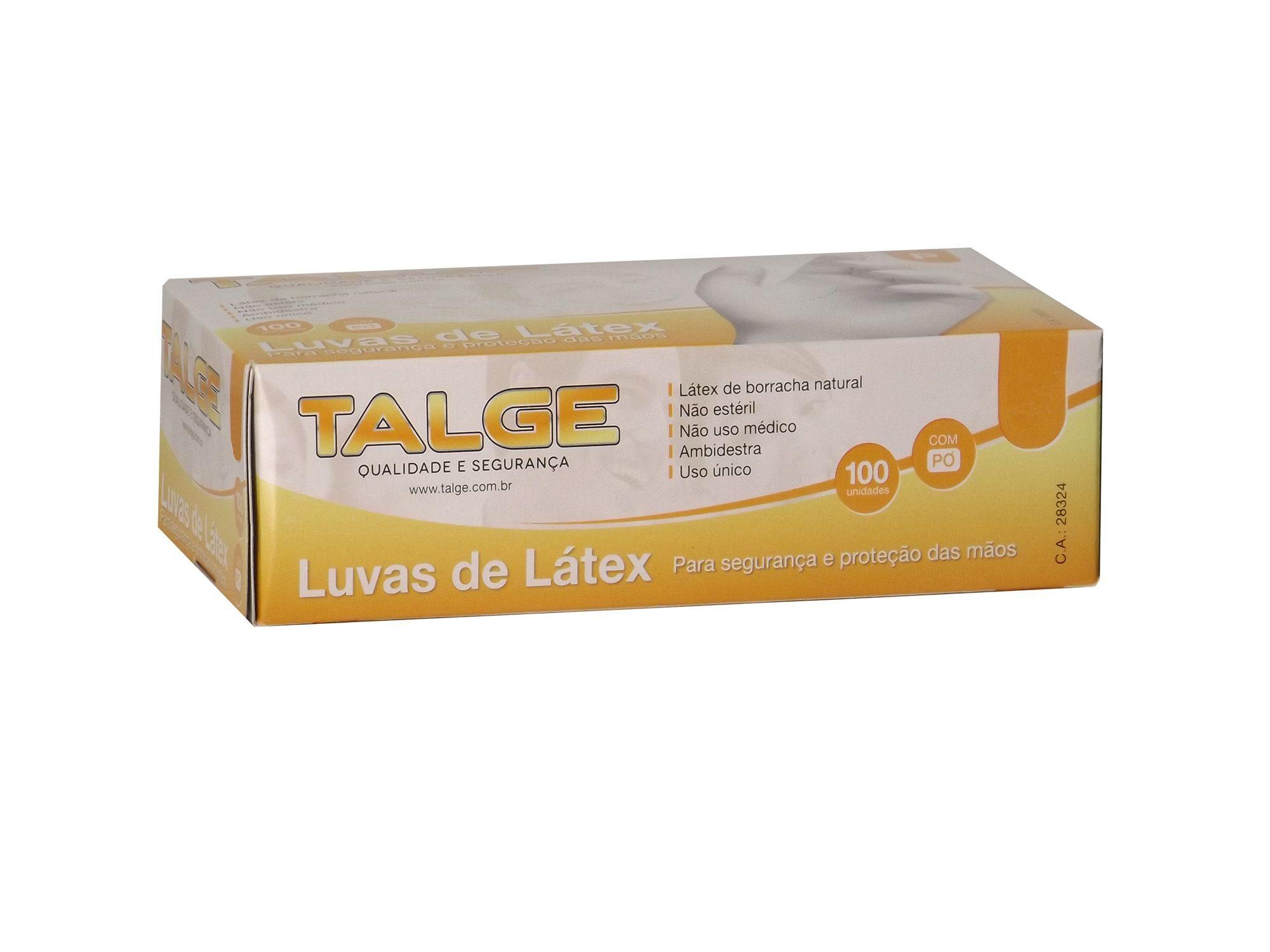 Luvas de Látex com Pó C/100 Unid.