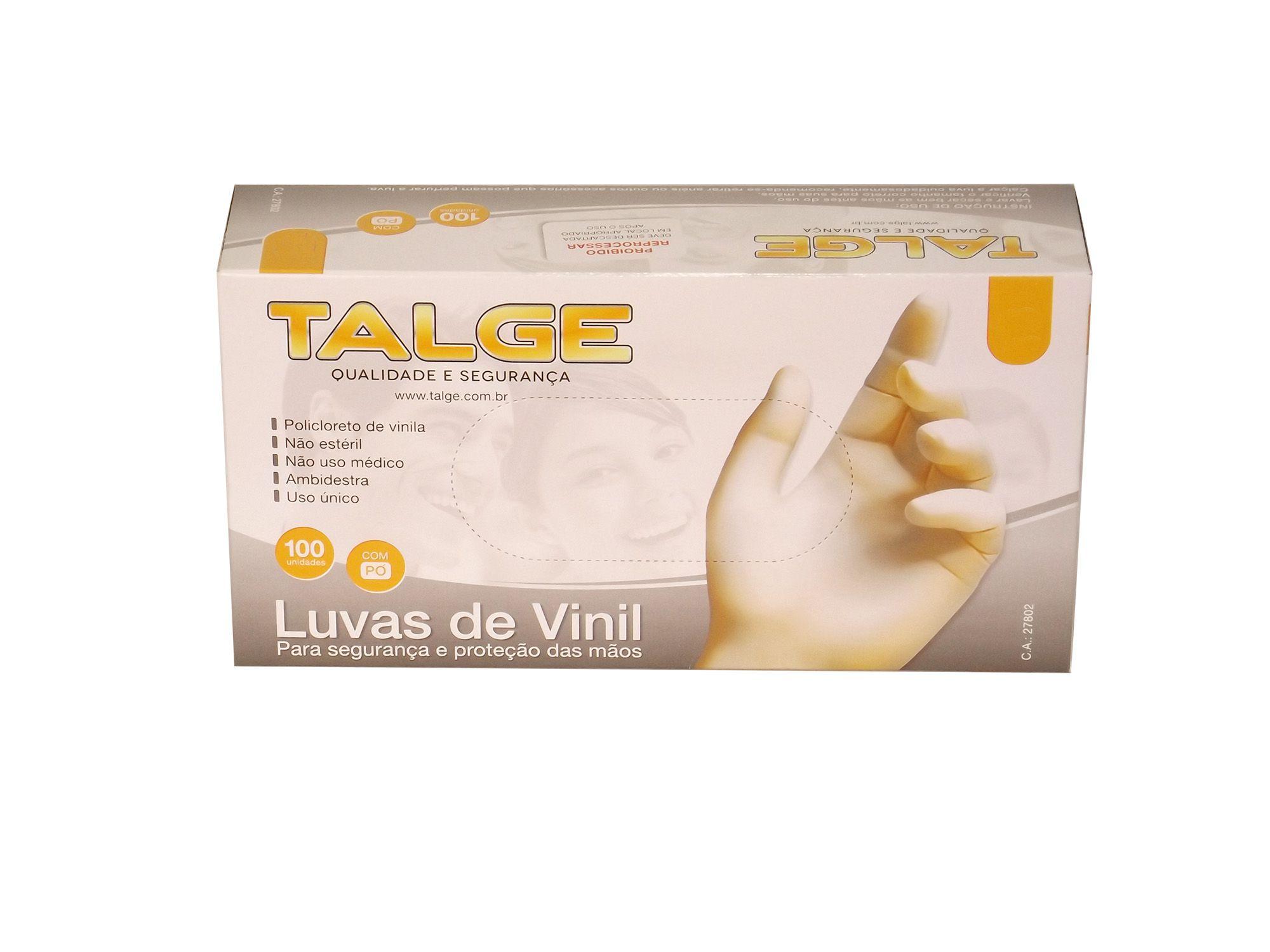 Luvas de Vinil com Pó C/100 Unid.
