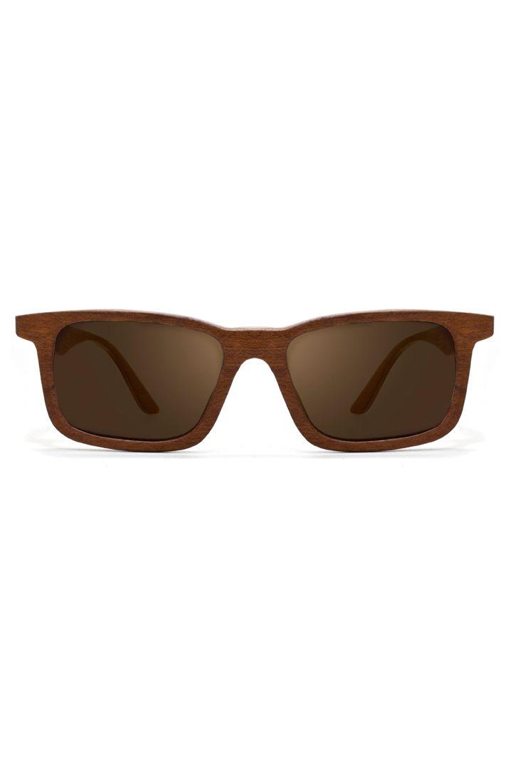 Óculos Leaf Miles Brown - Madeira Feito à Mão