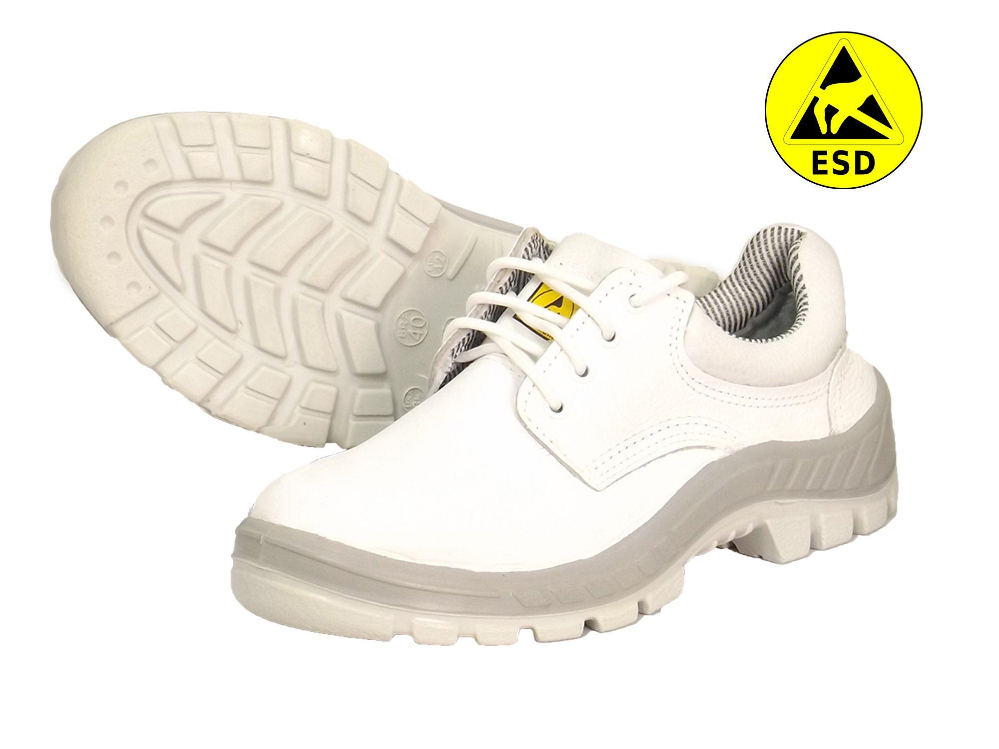 Sapato com proteção ESD - Branco