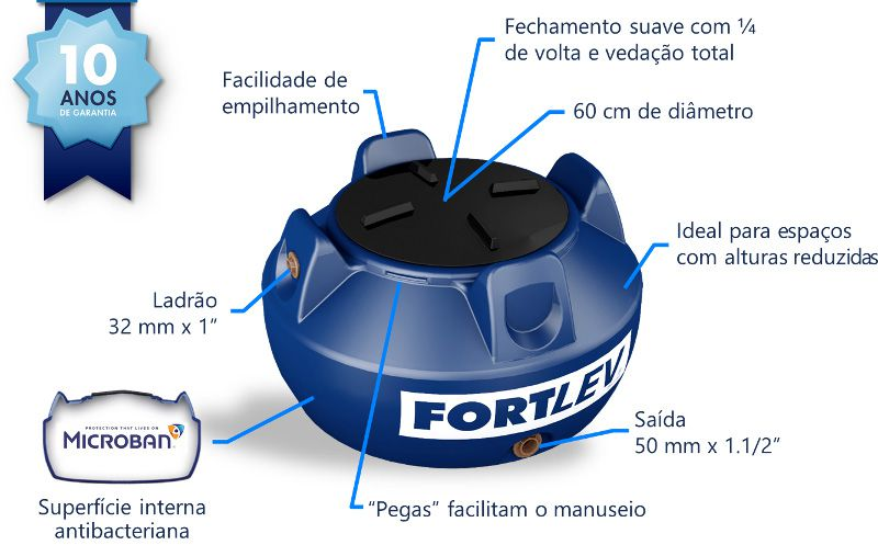 Tanque Antibacteriano Fortlev