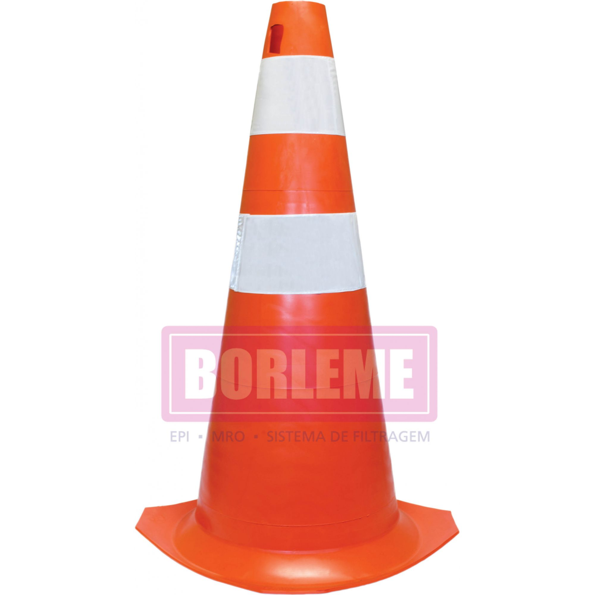 Cone Sinalização Laranja/Branco 75 cm