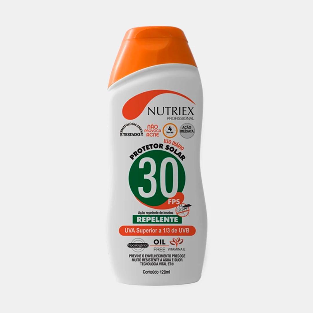 Creme Bloqueador Solar FPS30 Nutriex com Repelente de Insetos