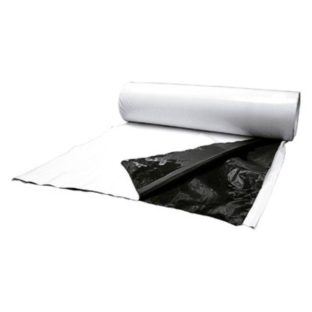 Lona Plástica Dupla Face Branca/Preta Rolo 8 x 100 mts