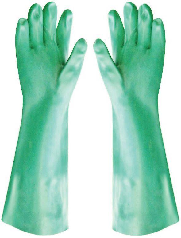 Luva em PVC Hexanol Sem Forro 35cm Handshuhe - CA 1169