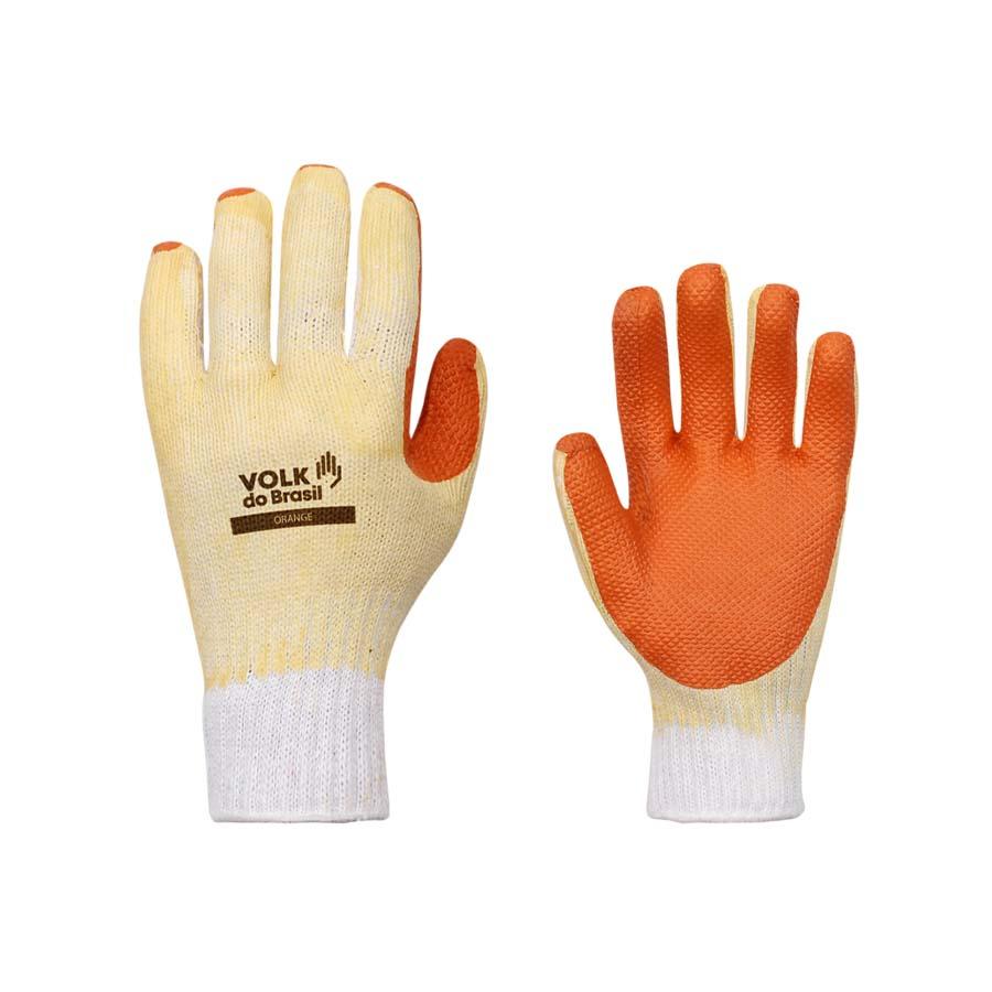 Luva Latex Max Orange Volk - CA 37815