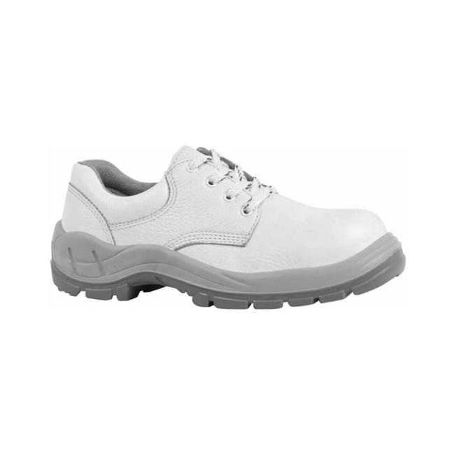 Sapato Branco com Amarril Bico PVC - CA 16569
