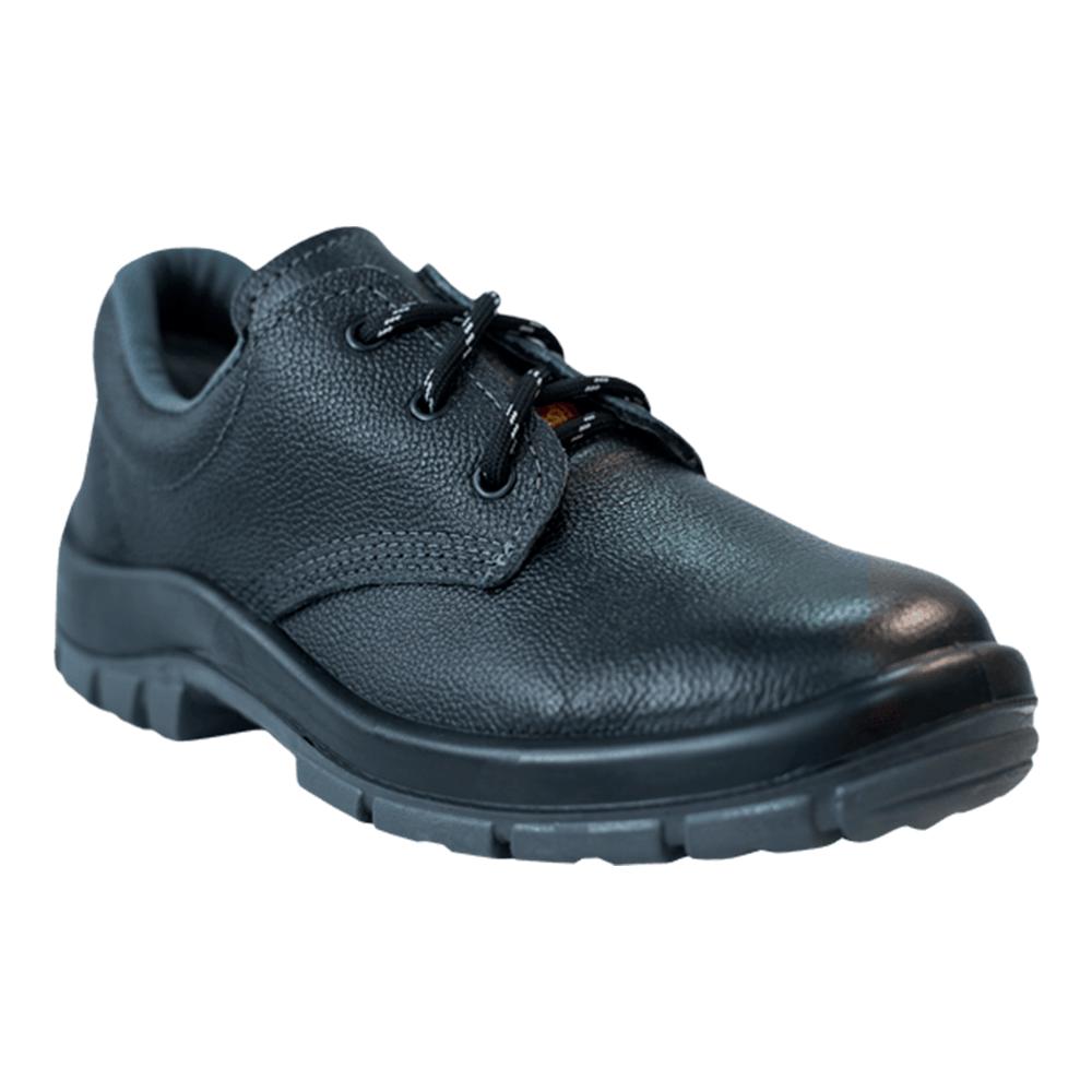 Sapato Preto Bidensidade com Amarril e Bico de Aço - CA 16257