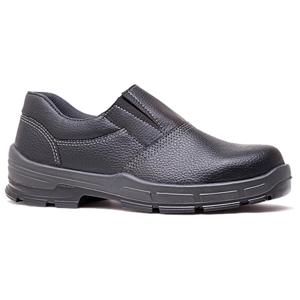 Sapato Preto com Elástico sem Bico de Aço - CA 26420