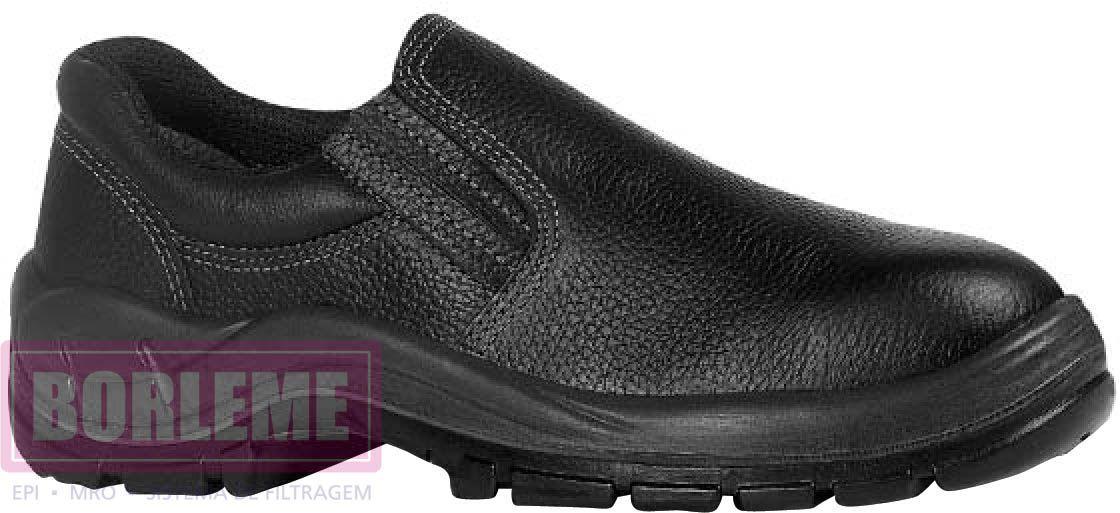 Sapato Preto Com Elástico Sem Bico de Aço - CA 26.420
