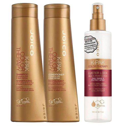Joico K-pak Color Therapy Shampoo + Condicionador + Leave-i