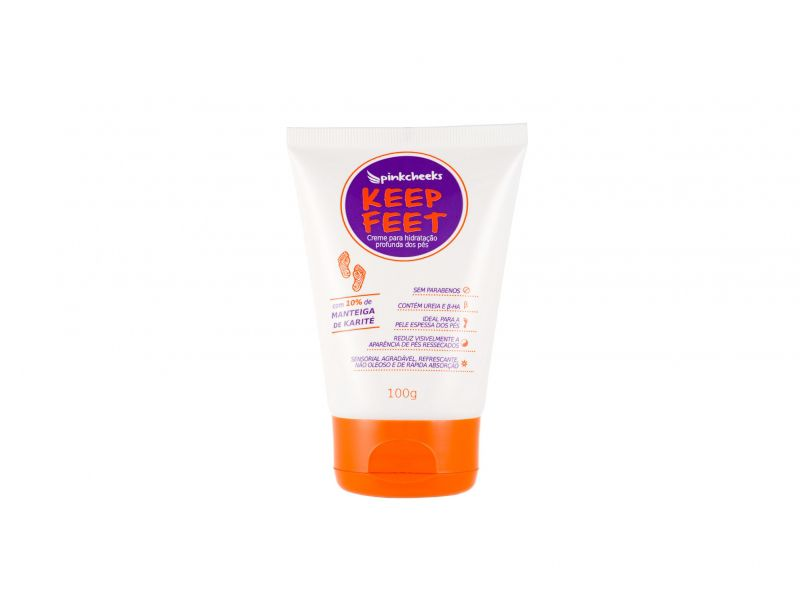 Keep Feet Creme para Pés Pink Cheeks 100g