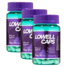 Kit 3 Lowell Caps - Tratamento 90 dias
