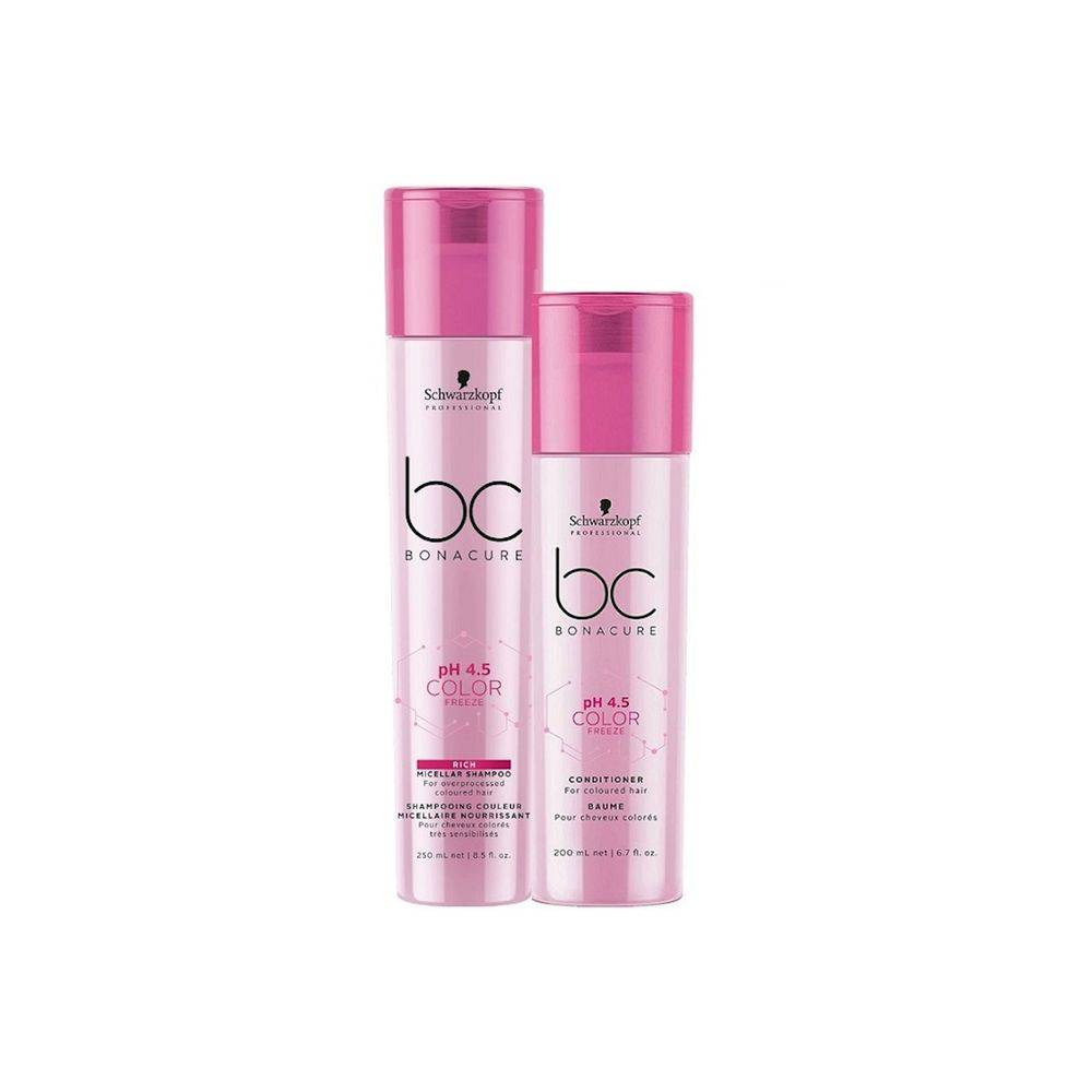 Kit Duo Schwarzkopf Professional BC Bonacure pH 4.5 Color Freeze Rich Home Care