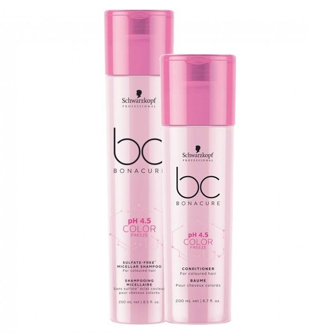 Kit Duo Schwarzkopf Professional BC Bonacure pH 4.5 Color Freeze Sulfate-Free Home Care