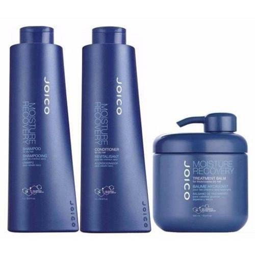 Kit Joico Moisture Recovery: Shampoo + Condicionador + Balm Moisture Recovery Profissional