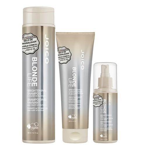 Kit Leave-In + Condicionador + Shampoo Blonde Life Brightening Joico