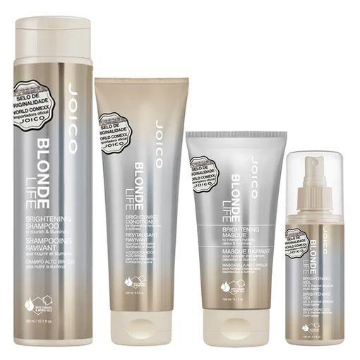 Kit Máscara + Leave-In + Condicionador + Shampoo Blonde Life Brightening Joico