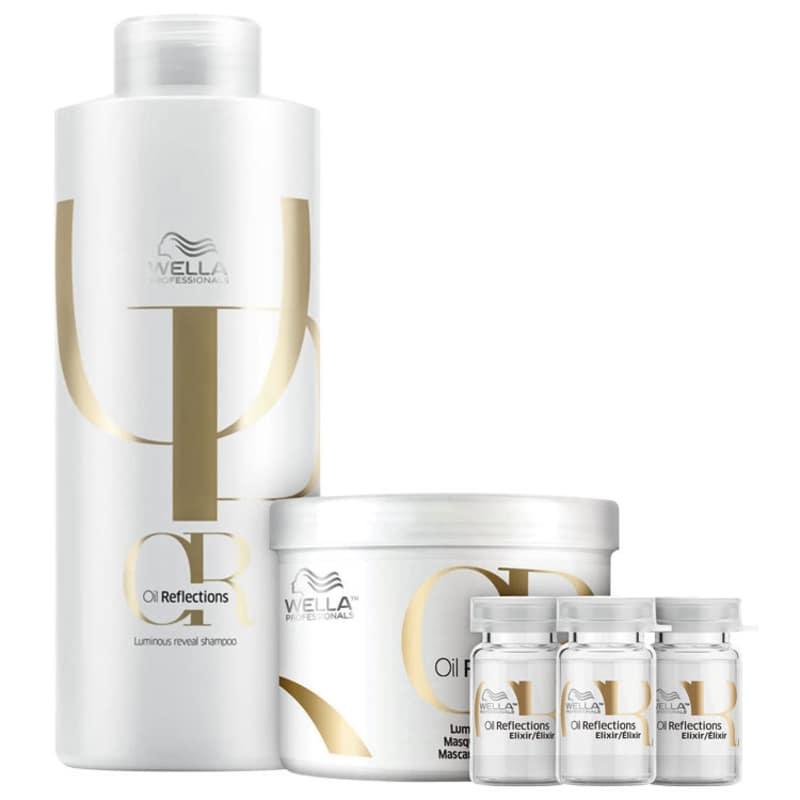 Kit Oil Reflections Elixir Salon Wella Professionals (3 Produtos)
