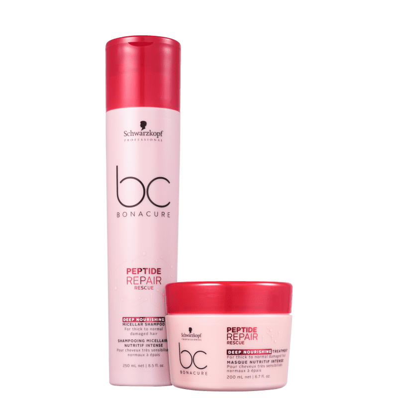 Kit Schwarzkopf Professional BC Bonacure Peptide Repair Rescue Deep Nourish (2 Produtos)