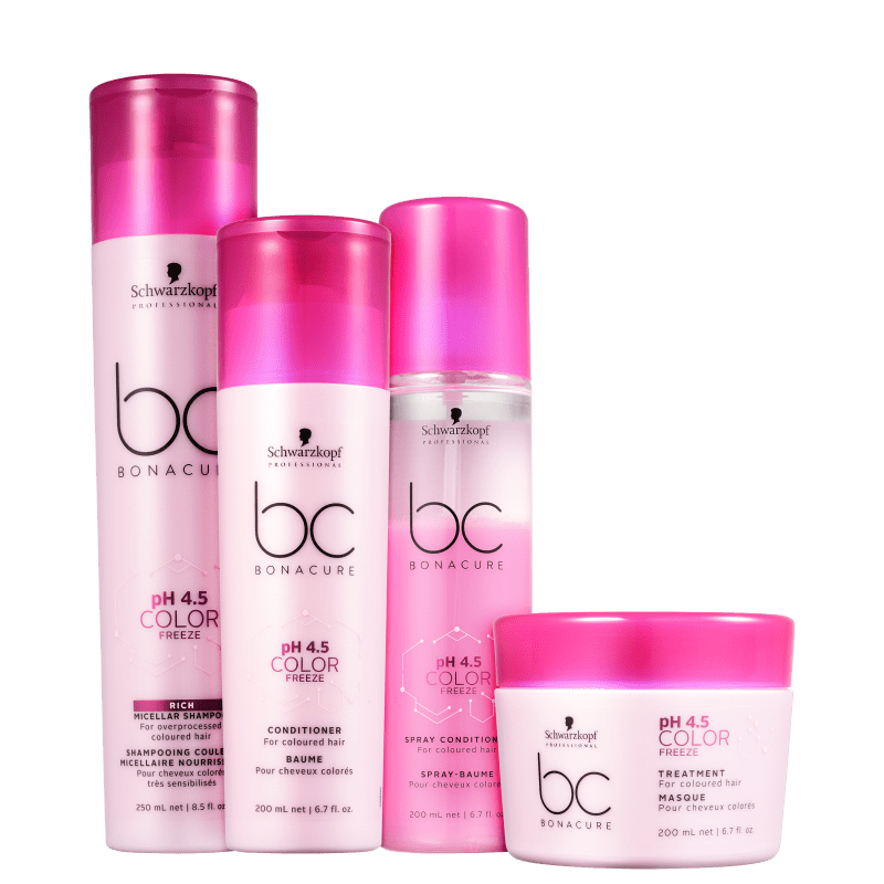 Kit Schwarzkopf Professional BC Bonacure pH 4.5 Color Freeze (4 Produtos)