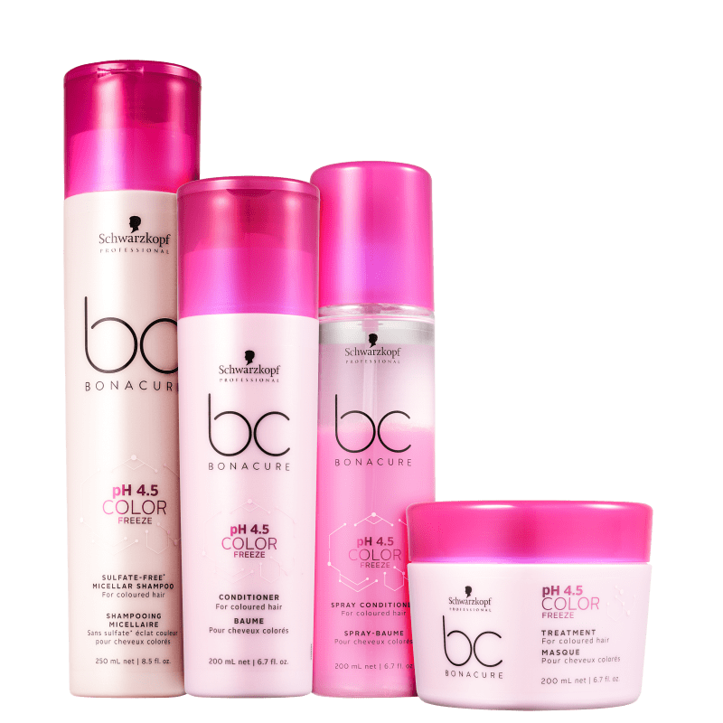 Kit Schwarzkopf Professional BC Bonacure pH 4.5 Color Freeze Sulfate-Free (4 Produtos)
