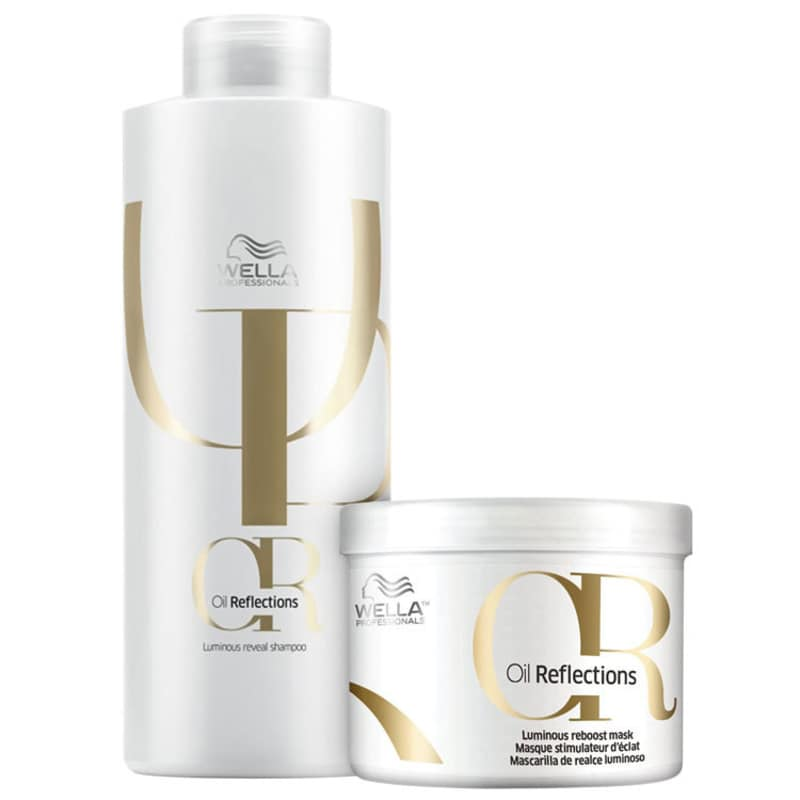 Kit Shampoo 1000ml + Máscara 500ml Oil Reflexion Salon Wella Professionals