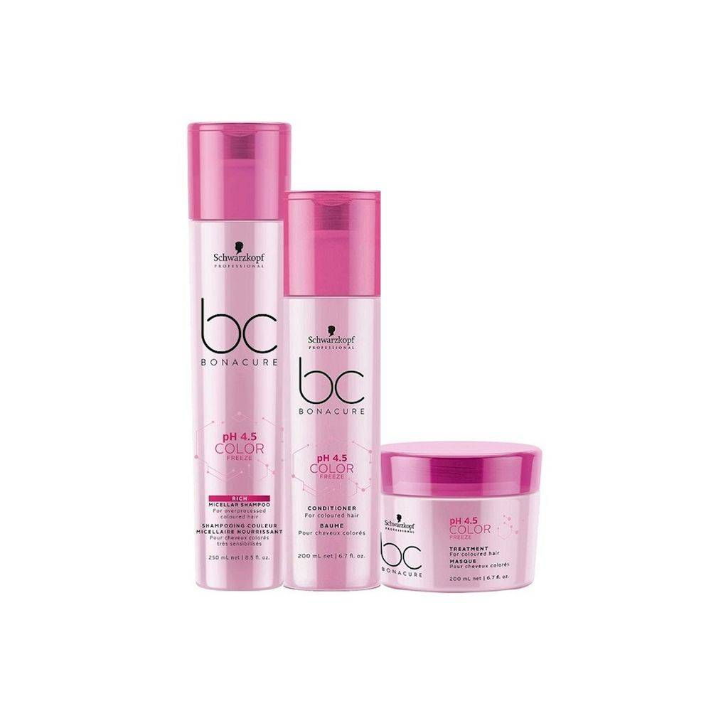 Kit Trio Schwarzkopf Professional BC Bonacure pH 4.5 Color Freeze Rich Home Care