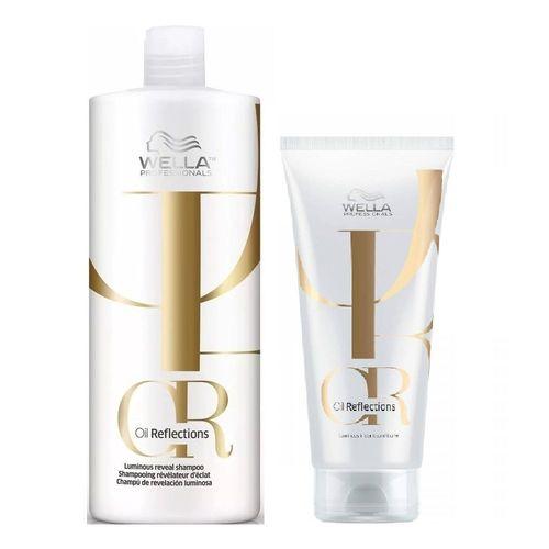 Kit Wella Oil Reflections Shampoo 1000ml + Condicionador 200ml