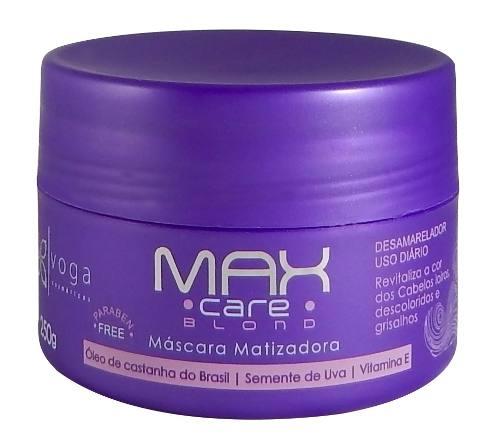 Máscara Matizadora Max Care Blond Voga Cosméticos 250g