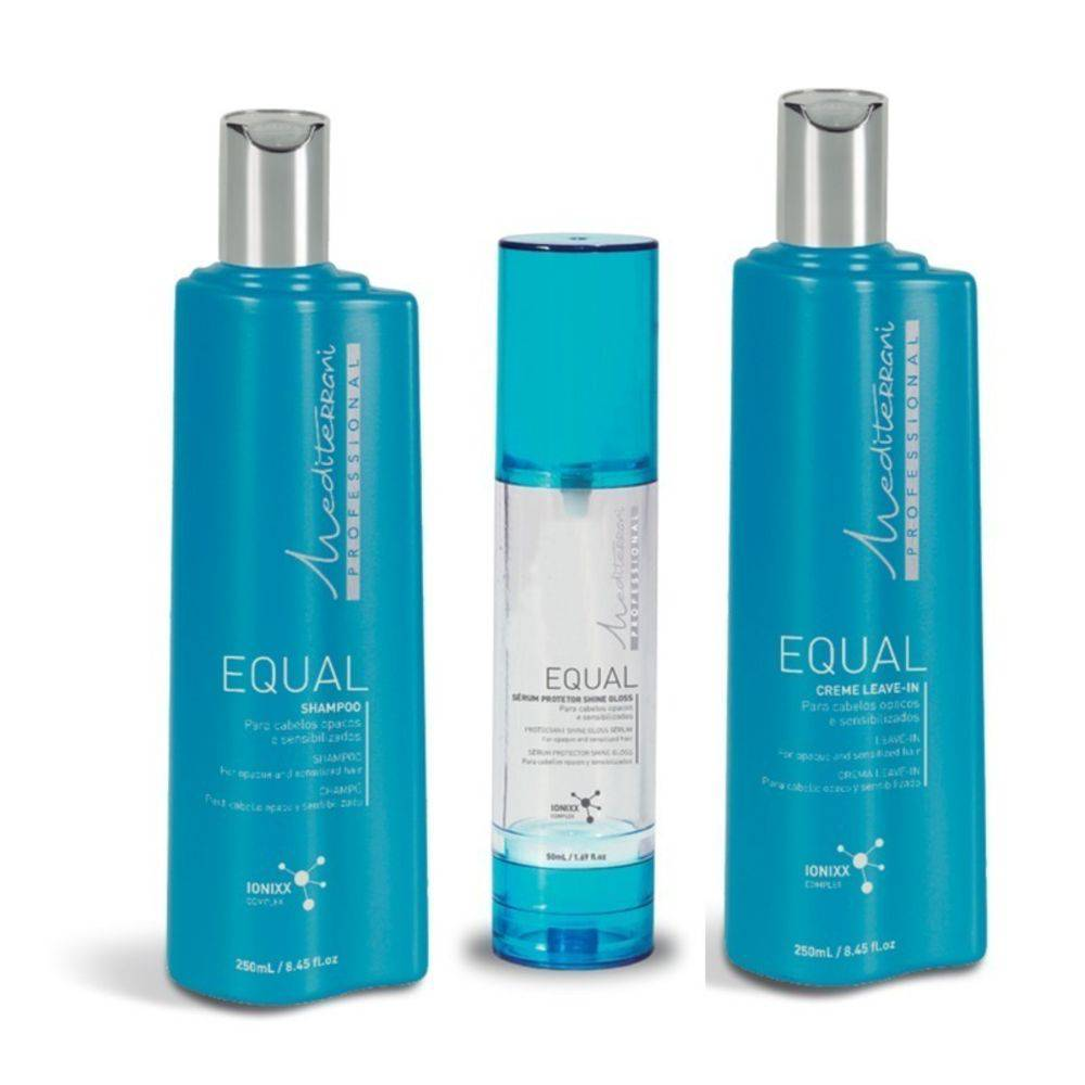 Mediterrani Kit Equal Home Care Shampoo, Leave-in E Sérum