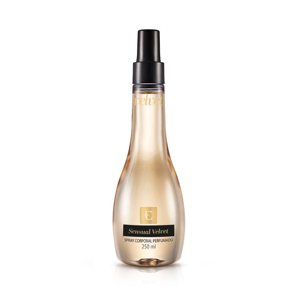 Sensual Velvet Deo Colônia Spray Corporal Perfumado 250ml