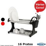 Escorredor 16 Pratos Linha Suprema - Brinox