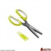 Tesoura para Cortar Temperos 18 cm Cores Variadas - Keita