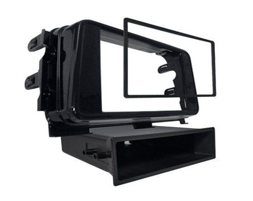Moldura Dvd 2 Din Kicks Com Porta Treco Black Piano Jp/Ch