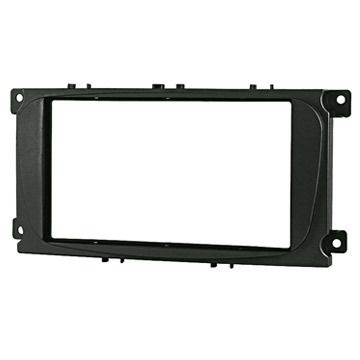 Moldura Dvd 2 Ford Focus Hatch Sedan Preto Jp/ch Com Suporte