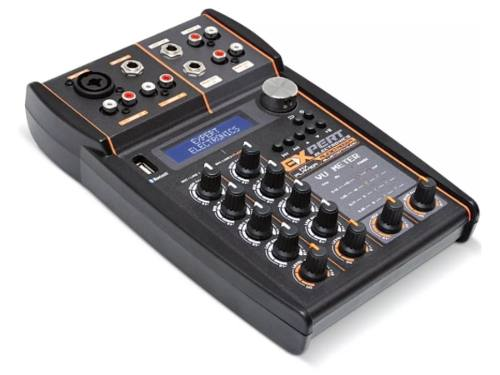 Mesa De Som Automotivo Expert Mx Player Bluetooth Usb Mixer