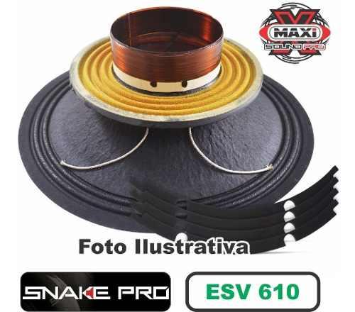 Kit Reparo Snake Pro Esv 610 10 4 Ohms 300w Original + Cola