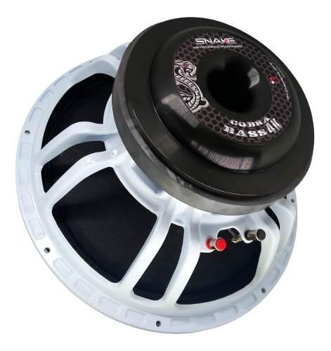 Sub Grave Snake Cobra 4k Bass 15 Polegadas 4 Ohms Lançamento