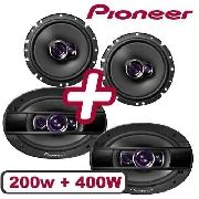 Kit Falante Pioneer 6 200w Triaxial 6x9 400w Quadriaxial
