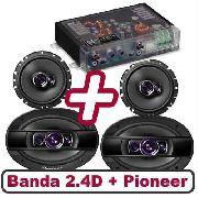 Kit Banda 400.4 4 Canais E Pioneer 6 200w E 6x9 400w