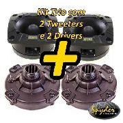 Kit Com 2 Super Tweeter E 2 Driver Spyder 200 Pro100w Rms