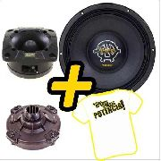Kit Trio Som Woofer Kaos 12 400w + Driver + Tweeter Spyder