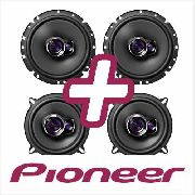 Kit Alto Falante Pioneer 2 Pares Gol 4p G2 G3 G4 6 polegadas 200w e 5 polegadas 180w