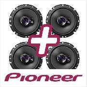 Kit 2 Pares Alto Falante 6 Pioneer 200w Golf Fox Up Voyage