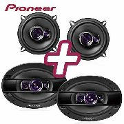 Kit Falante Pioneer 5 180w Triaxial 6x9 400w Quadriaxial