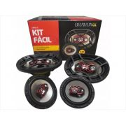 Alto Falante Bravox Kit Facil 6 Triaxial + 6x9 Quadriaxial